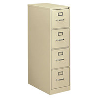 HON 314PL 310 Series Putty Four-Drawer Full-Suspension Letter Filing Cabinet - 15 inch x 26 1/2 inch x 52 inch