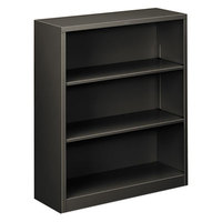 HON S42ABCS Charcoal 3 Shelf Metal Bookcase 34 1/2 inch x 12 5/8 inch x 41 inch