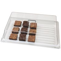 Cambro RD1826CW Camwear 18 inch x 26 inch Clear Rectangular Dome Display Cover