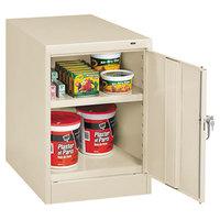 Tennsco 1824PY 19 inch x 24 inch x 30 inch Putty Single Door Storage Cabinet