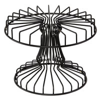 GET IRB-110 13 inch Black Powder Coated Iron Round Wire Cake Stand
