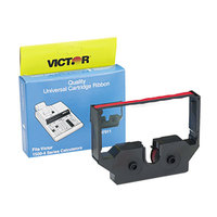 Victor 7011 1/2 inch Wide Black / Red Calculator Ink Ribbon