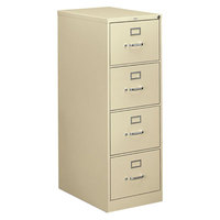 HON 314CPL 310 Series Putty Four-Drawer Full-Suspension Legal Filing Cabinet - 18 1/4 inch x 26 1/2 inch x 52 inch