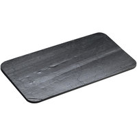 Cal-Mil 1522-518-65 5 inch x 18 inch Black Rectangular Slate Serving / Display Stone