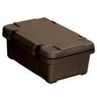 Carlisle PC140N01 Cateraide 4 inch Deep Brown Top Loading Insulated Food Pan Carrier