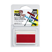 Redi-Tag 20022 Red 1 inch x 3/16 inch Removable Page Flag - 300/Pack