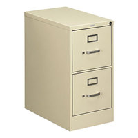 HON 512PL 510 Series Putty Two-Drawer Full-Suspension Letter Filing Cabinet - 15 inch x 25 inch x 29 inch