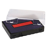 U. S. Stamp & Sign P5430BR 1 inch x 1 5/8 inch Blue and Red Self-Inking Stamp Cartridge Refill