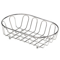 Clipper Mill by GET 4-88454 9 inch x 5 1/4 inch Stainless Steel Oval Wire Basket