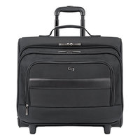 Solo B644 Columbus 16 1/8 inch x 6 5/8 inch x 13 3/4 inch Black Classic Rolling Overnighter Case