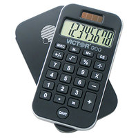 Victor 900 8-Digit LCD Solar Battery Powered Pocket Calculator with Antimicrobial Coating