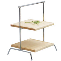 Clipper Mill by GET IR-408C 2-Tier Chrome Plated Iron Riser - 15 3/4 inch x 12 inch x 19 inch