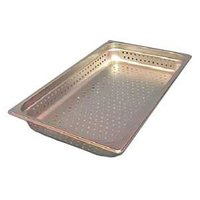 Full Size Perforated Steam Table / Hotel Pan 2 1/2 inch Deep Anti-Jam