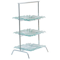 Clipper Mill by GET IR-409C 3-Tier Chrome Plated Iron Riser - 15 3/4 inch x 12 inch x 27 inch