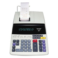 Sharp EL1197PIII 12-Digit Black / Red Two-Color Printing Desktop Calculator - 4.5 Lines Per Second