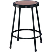 National Public Seating 6224-10 Black 24 inch Hardboard Round Lab Stool