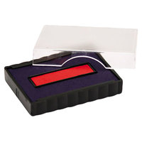 U. S. Stamp & Sign P4750BR 1 inch x 1 5/8 inch Blue and Red Self-Inking Stamp Cartridge Refill