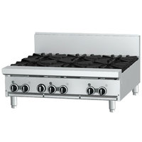 Garland GF36-2G24T Natural Gas 2 Burner Modular Top 36 inch Range with Flame Failure Protection and 24 inch Griddle - 88,000 BTU