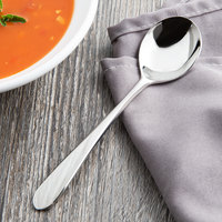 Reed & Barton RB124-016 R&B Soho 6 1/4 inch 18/10 Stainless Steel Extra Heavy Weight Bouillon Spoon - 12/Case
