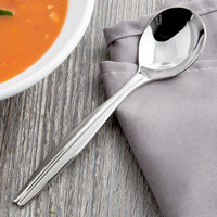 Reed & Barton RB121-016 Merlot 6 inch 18/10 Stainless Steel Extra Heavy Weight Bouillon Spoon - 12/Case