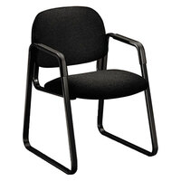 HON 4008AB10T Solutions 4000 Black Guest Chair with Sled Base