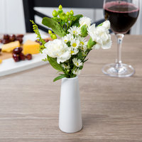 Core by Acopa 4 inch Bright White Porcelain Bud Vase - 12/Case