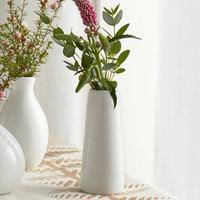 Acopa 4 inch Bright White Porcelain Bud Vase - 12/Case