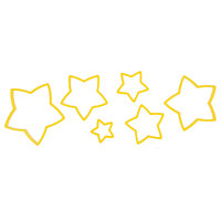 Wilton 2304-111 6-Piece Plastic Star Cookie Cutter Set