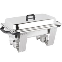 Vollrath 99860 9 qt. Dakota Chafer Rectangular Full Size Complete Set