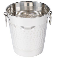 American Metalcraft WB9 5 Qt. Hammered Stainless Steel Wine Bucket