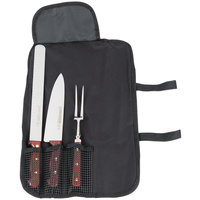 Dexter-Russell 20302 Connoisseur 3 Piece Black Carving Set with Cutlery Case
