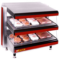 APW Wyott Racer DMXD-60H 60 inch Horizontal Countertop Double Shelf Merchandiser - 208V
