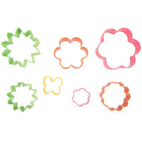 Wilton 2308-1541 7-Piece Metal Flower Garden Cookie Cutter Set