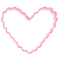 Wilton 2308-1316 3 inch Metal Crinkle Heart Cookie Cutter