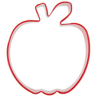 Wilton 2308-1317 3 inch Metal Apple Cookie Cutter