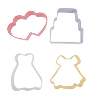 Wilton 2308-1071 4-Piece Metal Wedding Cookie Cutter Set