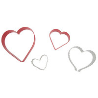 Wilton 2308-1203 4-Piece Metal Nesting From the Heart Cookie Cutter Set