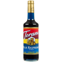 Torani 750 mL Blue Raspberry Flavoring Syrup