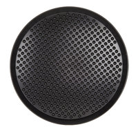 HS Inc. HS1055 17 inch Charcoal Polypropylene Pizza Pleezer Pizza Tray - 12/Case