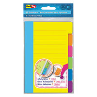Redi-Tag 10245 Assorted Color Divider Sticky Note Pad with Tabs - 3/Box