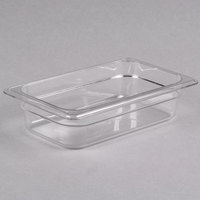 Cambro 42CW135 Camwear 1/4 Size Clear Polycarbonate Food Pan - 2 1/2 inch Deep