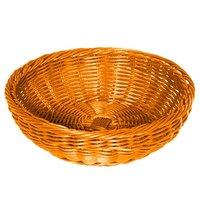 GET WB-1512-OR 11 1/2 inch x 3 1/2 inch Designer Polyweave Orange Round Basket - 12/Case