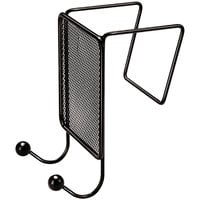 Fellowes 75903 Partitions Additions Black Mesh Double-Garment Hook - 4 1/2 inch x 6 inch