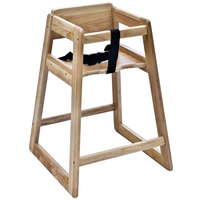 Koala Kare KB800-20-KD Woodrow Ready to Assemble Stackable Wood High Chair with Light Finish