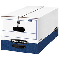 Fellowes 00011 Liberty Bankers Box 24 1/8 inch x 12 1/4 inch x 10 3/4 inch White Heavy-Duty Letter File Storage Box - 12/Case