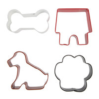 Wilton 2308-0910 4-Piece Metal Pets Cookie Cutter Set