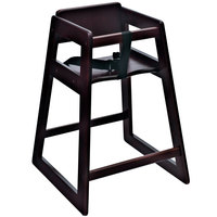 Koala Kare KB800-29 Woodrow Assembled Stackable Wood High Chair with Mahogany Finish