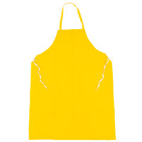 47 inch x 35 inch Yellow PVC / Polyester Dishwashing / General Use Apron