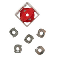 Wilton 2308-0113 7-Piece Metal Square Linzer Cookie Cutter Set