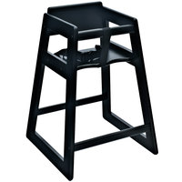 Koala Kare KB800-22-KD Woodrow Ready to Assemble Stackable Wood High Chair with Black Finish
